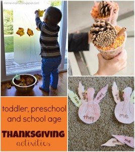 Thanksgiving activities for kids broken down by age... awesome!