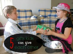 gifts kids can give each other