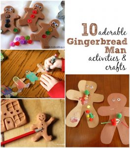 10 gingerbread man activities and crafts