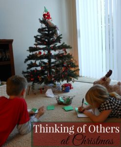 A simple activity that inspires the kids to think of others at Christmas.