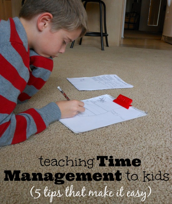 time management for kids. #3 is so important!