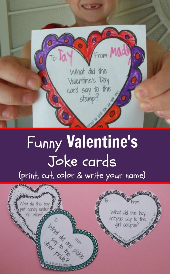 Funny Valentine's Day Cards -printable Valentine's Joke cards