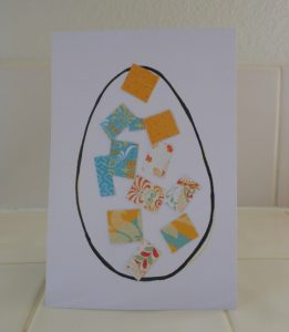 Simple and Pretty Collage Easter Egg Craft