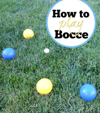 Family Play Date: Setting up a Bocce Tournament