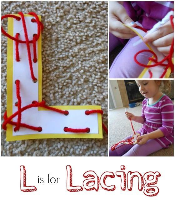 Letter L Activity: Lacing
