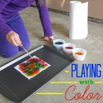 Soaking up Color: Paper Towel & Food Coloring Experiment