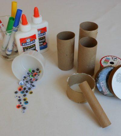 creative kid table week 1 toilet paper rolls u0026 googly eyes