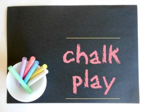 Creative Kid Table Week 3: Creating with chalk