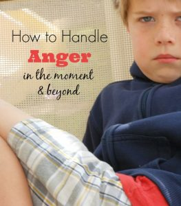 Great tips for how to handle anger in kids