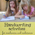 Handwriting Activities for Mechanics and Endurance