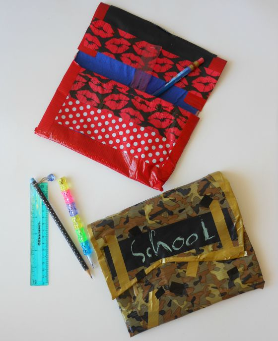 diy duct tape pencil pouches