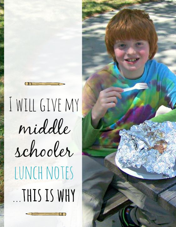 middle school kids need lunch love too!