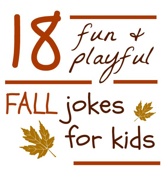 fall jokes for kids (and they are printable!)