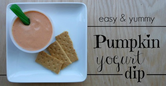 3 ingredient pumpkin yogurt dip! Perfect after school snack idea.