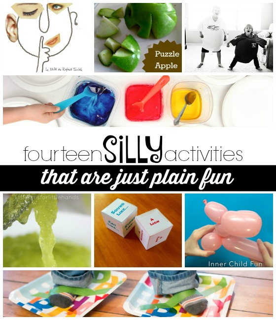 14 silly activities kids will love