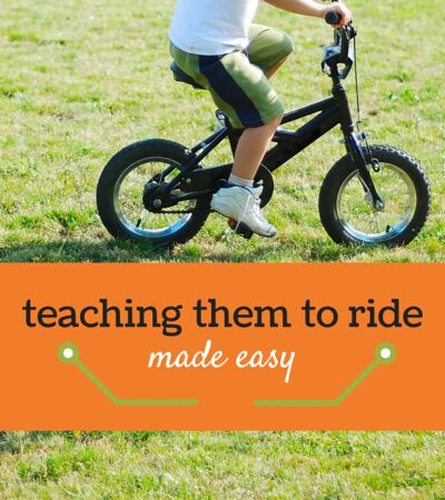Teaching a Child to Ride a Bike