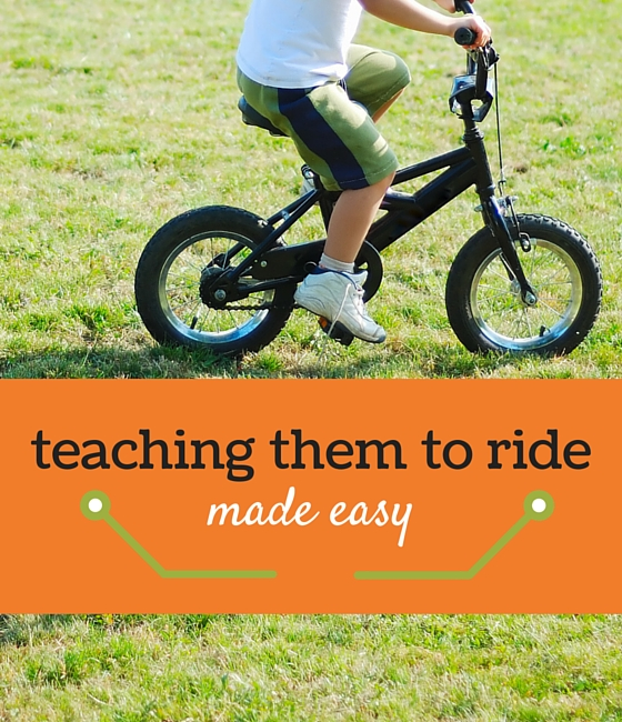 teaching a child to ride a bike - #7 is so smart!