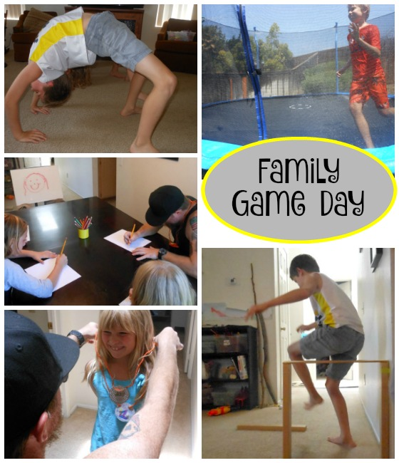 Family game day - everybody brings a game