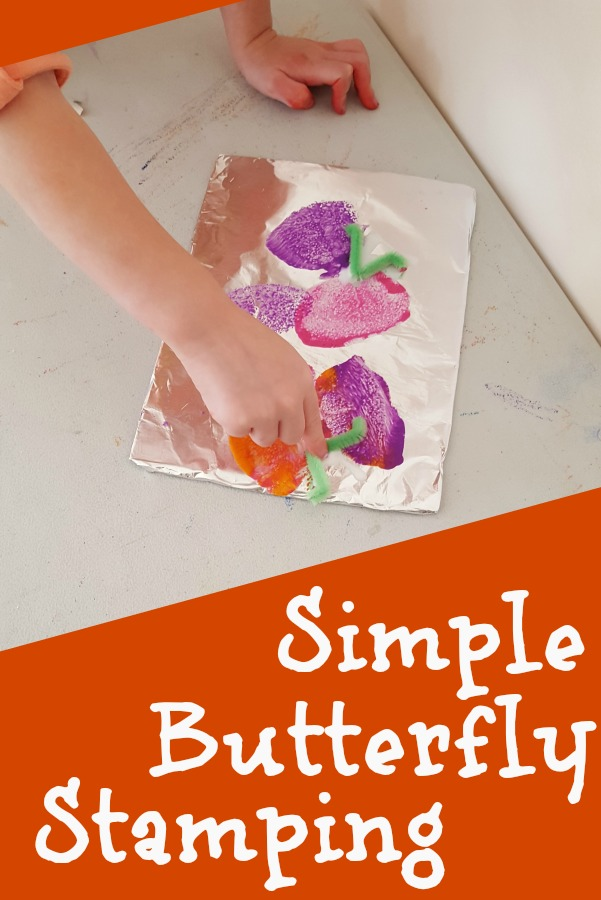 Simple butterfly stamping preschool craft