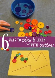 6 Simple Button Activities for Kids