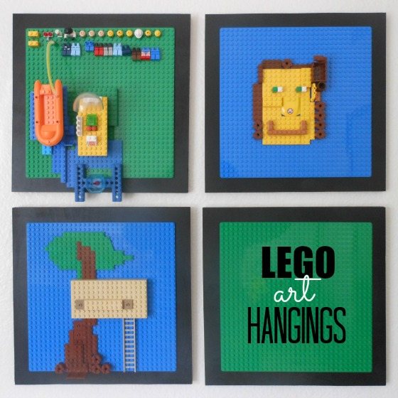 What a neat idea for Lego display shelves!