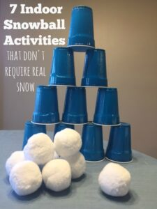 7 Indoor Snowball Activities