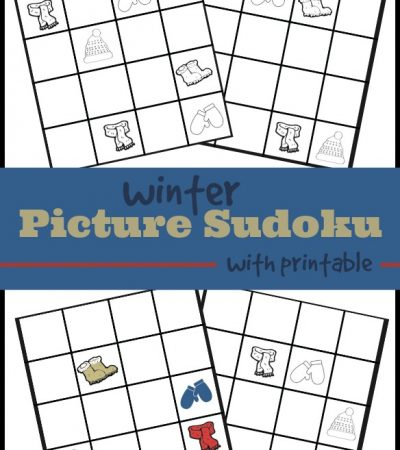 Printable Winter Sudoku for Kids