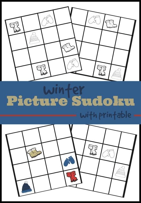 Printable picture Sudoku for kids.