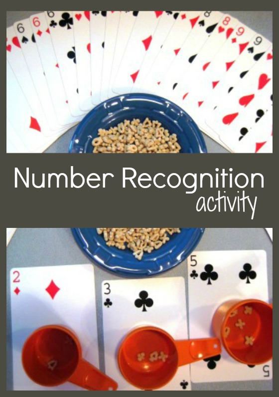 Number recognition activity for kids