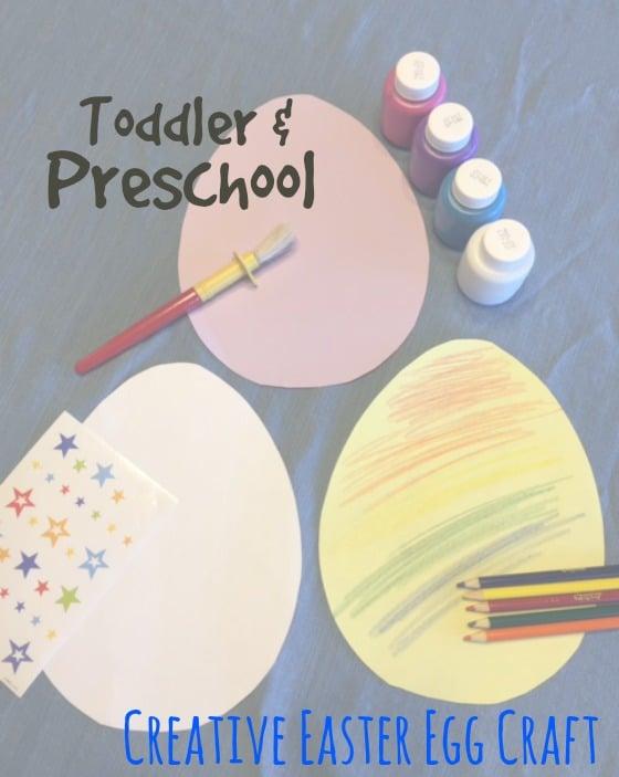 Easter egg craft for toddler and preschool kids