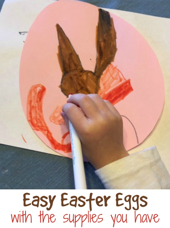 Easy Easter Eggs with the supplies you have