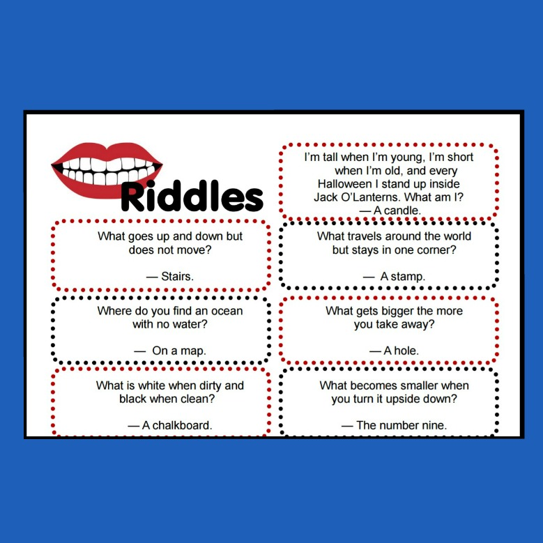 Clever Riddles for Kids with Answers (printable riddles!)