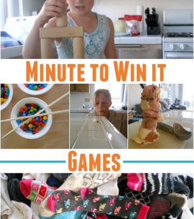 Minute To Win It Games for Kids