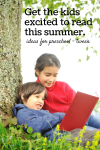 7 Fun ways to Get Kids Reading this Summer