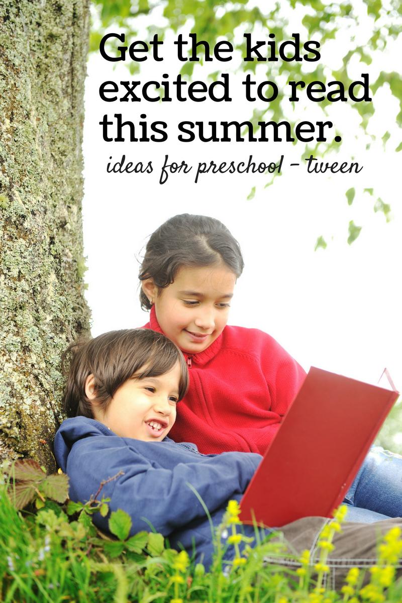 Summer reading ideas for kids preschool to tween