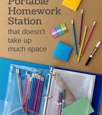 DIY Portable Homework Station Using a Binder