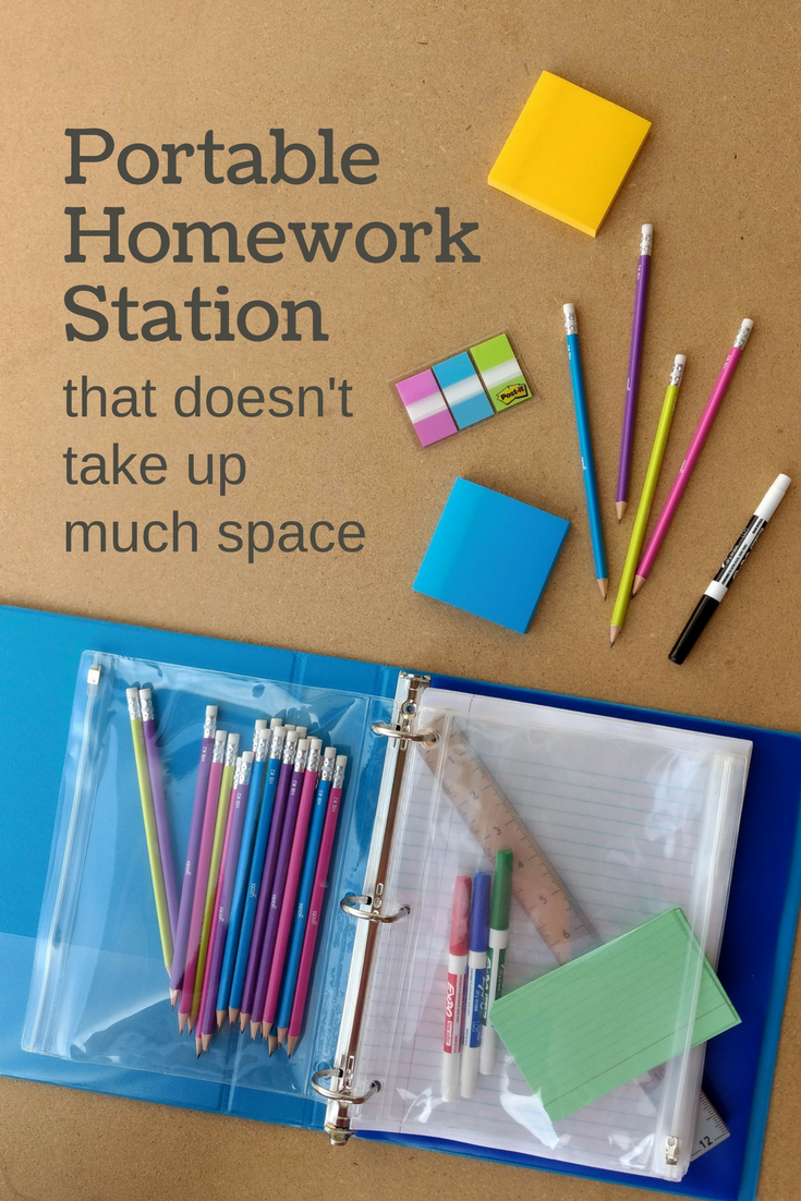 Portable Homework Station - perfect for small spaces and doing homework in lots of different places.