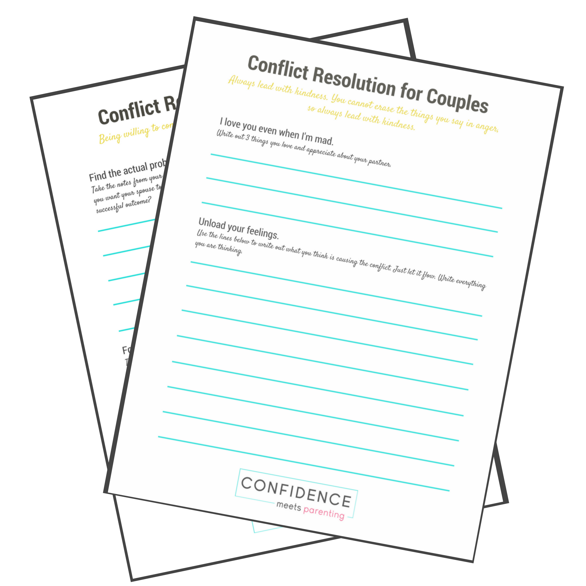 Conflict Resolution In Marriage With Printable Worksheet Cmp